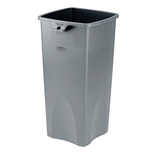 Save %34 Now! Rubbermaid Commercial Products Untouchable Square Trash/Garbage Can, Gray (FG356988GRA...
