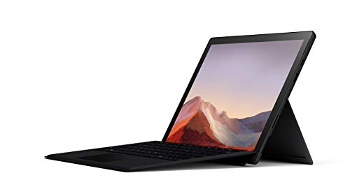 Microsoft Surface Pro 7 – 12.3' Touch-Screen - 10th Gen Intel Core i5 - 8GB Memory - 256GB SSD (Latest Model) – Matte Black with Black Type Cover, Model:QWV-00007 (Renewed)