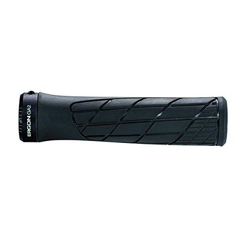 Ergon - GA2 Ergonomic Lock-on Bicycle Handlebar Grips | Standard Compatibility | for Mountain Bikes | Black