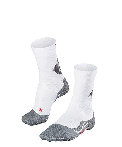 FALKE Unisex 4 Grip Socken, Stabilizing Sportsocke - Funktionsfaser, mit Kompressionszone zur Stabilisierung des Knöchels, 1er Pack, Weiß (White-Mix 2020), Größe: 44-45