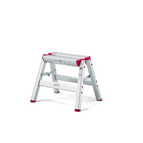 Inicio escaleras de Interior y Exterior en Aluminio Grueso General Perfil Plegable Antideslizante de múltiples Funciones del hogar escaleras, 2 Colores Opcionales (Color : S)