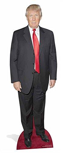 empireposter Donald Trump - Red Tie Red Carpet Pappaufsteller Pappfigur Standy - ca 180 cm