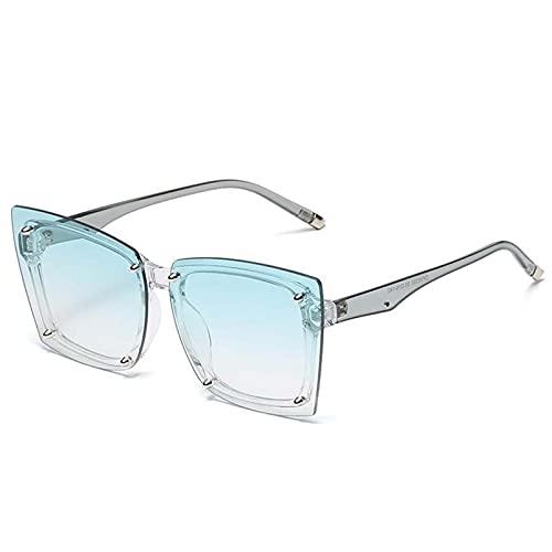 AMFG Square Big Frame Gafas de sol Personalidad Net Net Celebrity Sunglasses Tendencia Caja de gafas de sol (Color : E)