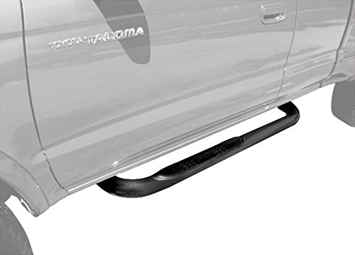 "Tyger Auto Compatible with 95-04 Tacoma Extended/Ext Cab (4Wd Or Prerunner 2/4Wd) Black 3"" Side Step Rails Nerf Bars Running Boards(2pcs with Mounting Bracket Kit)"