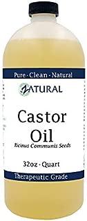 Organic Castor Oil-Ricinus Communis-100% Pure, Clean, Naked Castor Oil, (32 Ounce)