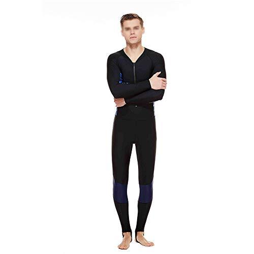 Mannen Wetsuit, heren Siamese duikpak heren zonnecrème lange mouwen badpak slim fit comfortabel, sneldrogend pak aanbieding voor beginners en sportfans