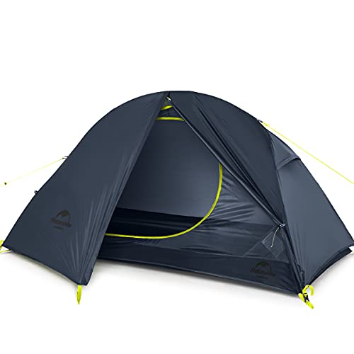 Naturehike Backpacking Tent for 1 Person Camping Hiking Lightweight Waterproof one Person Tent with Footprint (20D Dark Blue)
