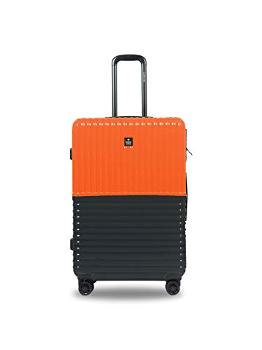 Nasher Miles Istanbul Hard-Sided ABS and PC Check-in Luggage 28 inch | 75cm Trolley Bag (Orange,Grey)