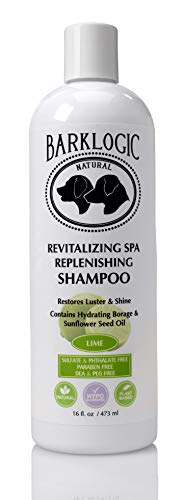 BarkLogic Revitalizing Spa Replenishing Shampoo, Lime, 473 ml, ohne Parabene, ohne Phthalate, ohne Sulfate, ohne DEA und PEG, Hypoallergen, Pflanzliche Basis