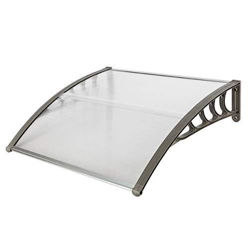 BILI-FOX B 101,6 x 81,3 cm Türfenster, Outdoor-Markise, Terrassen-Abdeckung, UV-Regen-Schutz, Haushaltsanwendung, Tür- und Fenster-Regenschutz (grau), grau