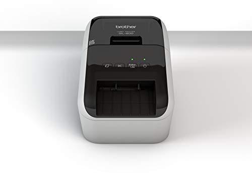 Brother QL800 Stampante per Etichette a Trasferimento Termico Diretto, Plug & Print, Collegabile a PC, Stampa a Due Colori Rosso e Nero, Interfaccia USB, Senza WiFi