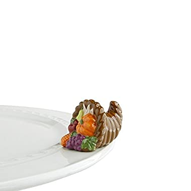 nf nora fleming Nora Fleming Cornucopia Mini - Autumn's Bounty - Hand-Painted Ceramic Charm - A162