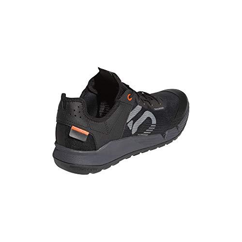 Five Ten Men's Trailcross Lt Mountain Bike Shoe, Black/Grey Two/Solar Red - 11.5