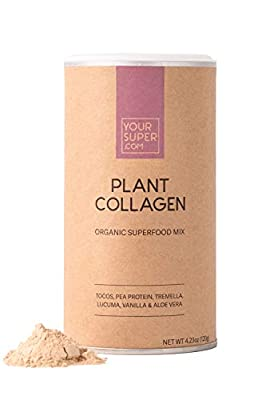 Your Super Plant Collagen Superfood Mix - Supports Skin Health, Hydration and Protects Your Natural Collagen- Organic Tocos, Pea Protein, Tremella, Lucuma, Vanilla, Aloe Vera- 4.23 Ounces, 24 Servings