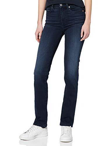 7 For All Mankind The Jeans Straight, Blu (Dark Blue Uf), W25/L32 (Taglia Unica: 25) Donna