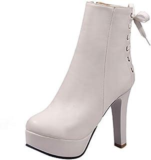 RizaBina Women Fashion Short Boots Autumn Party High Heels