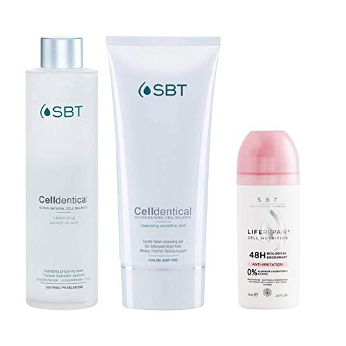 SBT Sensitive Biology Therapy Celldentical Cleanser Set - Toner + Gel + Deo Limitierte Edition