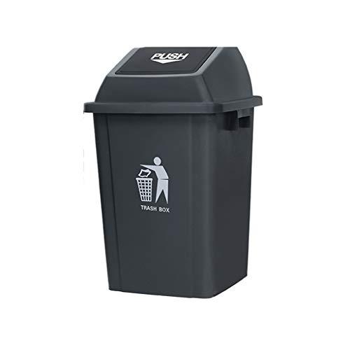 Soptunna med lock, kan stora Outdoor Yard Trash flera färg Plastic Sorterade soptunna Kapacitet: 60L, 100L (Color : Gray, Size : 60L)