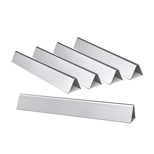 Hongso 7620 17.5' Stainless Steel Flavorizer Bars Heat Plate Replacement for Weber Genesis 300 Series E-310 E-320 E-330 EP-310 EP-320 EP-330 S-310 S-330 Gas Grills (2011-2016 With Front Control Knobs)