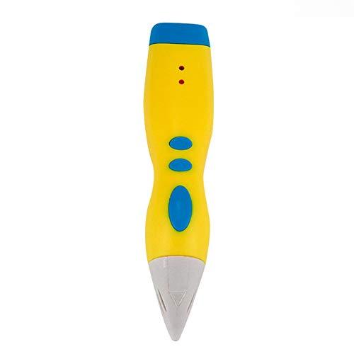 LULUKEKE 3D-Druckstift, Niedrigtemperatur-Lade-D.3D Zeichnungsstift, kompatibel mit PLA/ABS für Handwerk, Kunst & Modell, for DIY Gift,Yellow