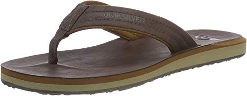 Quiksilver Carver Nubuck-Sandals For Men, Zapatos de Playa y Piscina Hombre, Marrón (Demitasse-Solid Ctk0), 42 EU