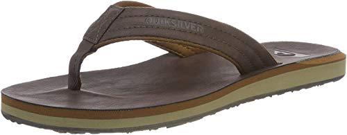 Quiksilver Carver Nubuck-Sandals For Men, Zapatos de Playa y Piscina Hombre, Marrón (Demitasse-Solid Ctk0), 43 EU