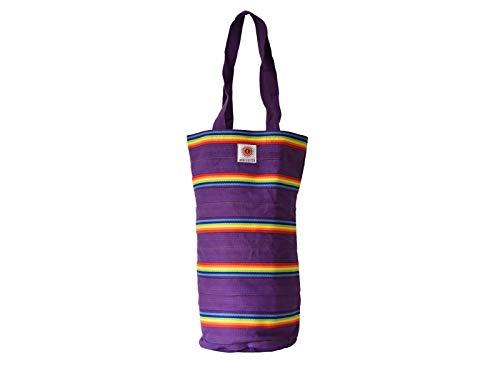 Yoga United Stripey - Bolsa de algodón para chakras, color magenta