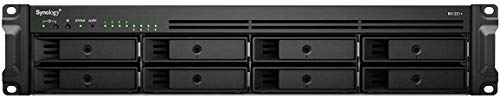 Synology RackStation RS1221+ - Servidor NAS - 8 bahías - Montaje en rack - SATA 6 Gb/s - RAID 0, 1, 5, 6, 10, JBOD - RAM 4 GB -...