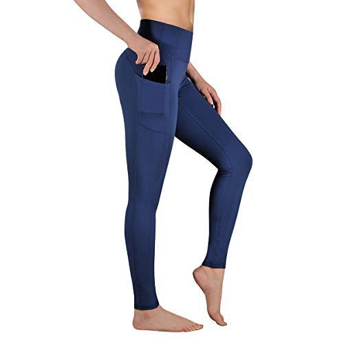 Gimdumasa Leggings Fitness Donna Push Up Allenamento Opaco Vita Alta Yoga Palestra Leggins Sportivi Pantaloni GI188 (Profondo blu, XL)