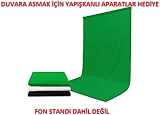 chromakey-green screen- greenbox yeşil fon perde(2x3 m)
