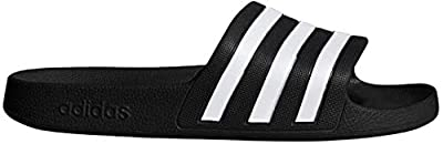 adidas Women's Adilette Aqua, White/Black, 9 M US