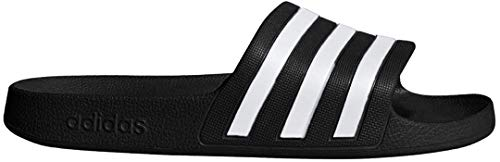 adidas Women's Adilette Aqua, White/Black, 8 M US