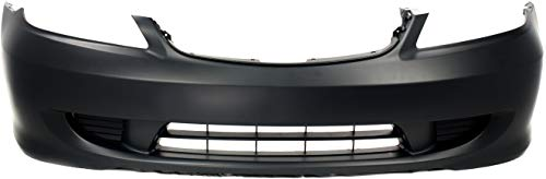 Evan-Fischer Front Bumper Cover Compatible with 2004-2005 Honda Civic Primed Coupe/Sedan