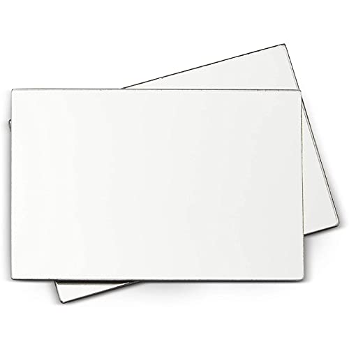Juvale Magnetic Locker Mirrors for Crafts (4 x 6 Inches, 2 Pack)