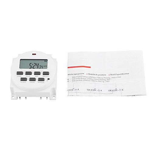 Temporizador de interruptor de control inteligente programable duradero eléctrico digital Smart Time-12V