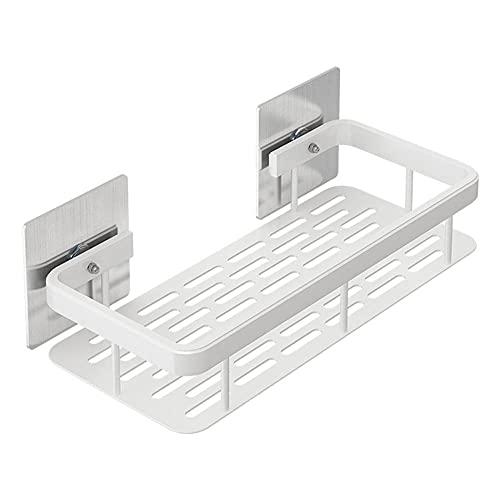 Estantes de Baño, Alloy de Aluminio de Baño. Estantes Montados en La Pared Estante Colgante Bandeja de Almacenamiento Cuadrado con Drenaje Blanco