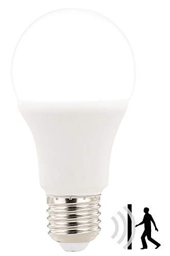 Luminea LED mit Bewegungsmelder: LED-Lampe mit Radar-Bewegungssensor, 12 W, E27, tageslichtweiß 6.400 K (Glühbirne Bewegungsmelder)