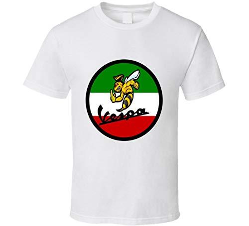 N/N Italian Pride Motor Scooter Vespa Wasp con bandera Cool Ciclismo Camiseta de tendencia