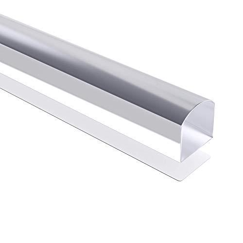 Mai & Mai SA01 Schwallschutz 80cm aus Acryl Schwallschutzleiste-selbstklebend Transparent Spritzschutz-Dichtung
