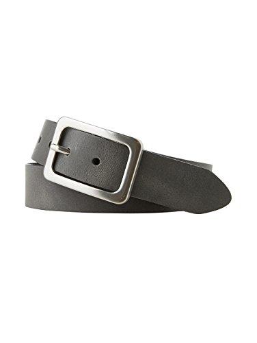 TOM TAILOR Frauen Belts klassischer Leder-Gürtel Gr:-90 EU, Farbe:-Anthra
