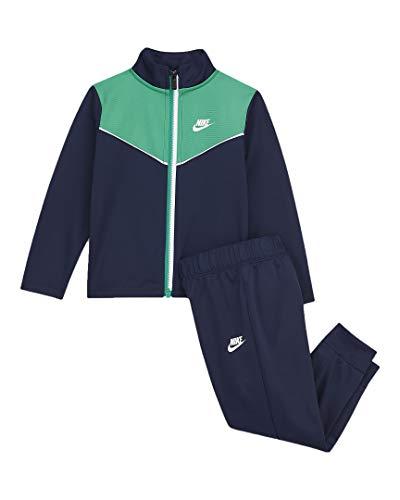 Nike Conjunto de 2 piezas de chaqueta y pantalones para niño (Midnight Navy(66G794-U90)/Verde, 24 Meses)