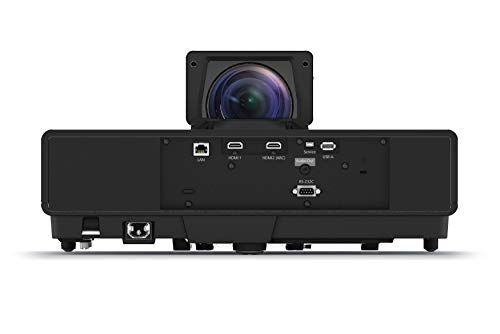 Epson EH-LS500B 3LCD, 4K PRO-UHD, Laser, Ultra Short Throw Super Resolution, 4000 Lumens, 130 Inch Display, Home Cinema Projector - Black