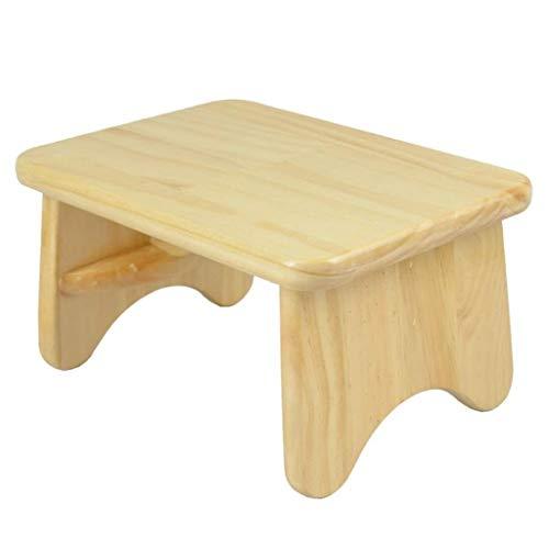 Yxsd Taburete pequeño de madera para niños, taburete bajo, de madera maciza, taburete pequeño, multifunción, para el hogar, creativo, color natural, tamaño: 15 cm