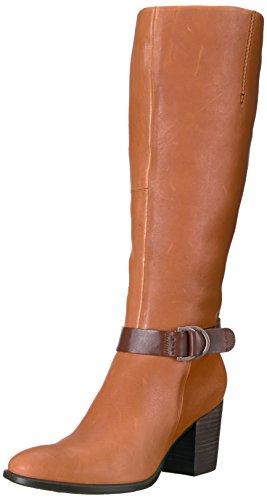 ECCO Women's Shape 55 Tall Riding Boot, Cognac/Mink, 39 EU / 8-8.5 US