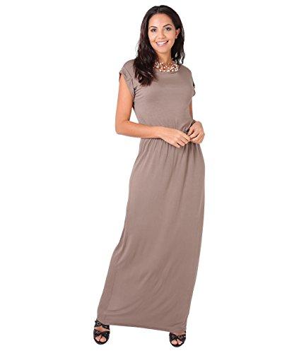KRISP 3269-MOC-12 Damen Leichtes Kleid (Mokka, Gr.40)