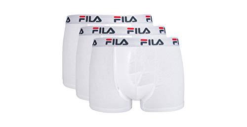 FILA FU5016/3 Herren Boxershorts, L, Weiß, 3 Stück