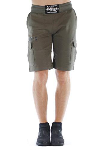 Boxeur Des Rues - Cargo Short Sweatpants with 3D Detail Print, Man