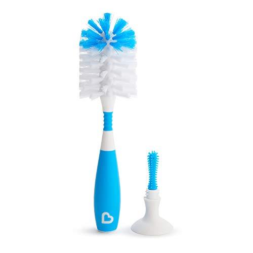 Munchkin - Cepillo para biberones Deluxe, azul