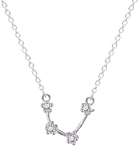 NC188 Collar de Cristal del Zodiaco para Mujeres y niñas, 12 Constelaciones, Signo del horóscopo, joyería, Collar de astrología de Libra, Regalo
