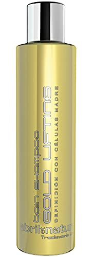 abril et nature   Rizos perfectos GOLD LIFTING   Champú Profesional de Peluquería para pelo rizado y ondulado   Tratamiento Cabello Vegano   Reparación y antifrizz – 250ml